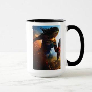Wonder Woman Running on Battlefield Mug