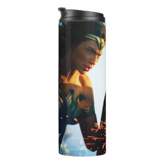 Wonder Woman Running on Battlefield Thermal Tumbler