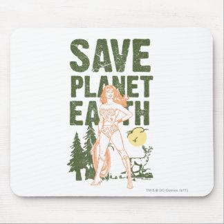 Wonder Woman Save Planet Earth Mousepad
