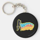 Wonder Woman Silhouette Keychains