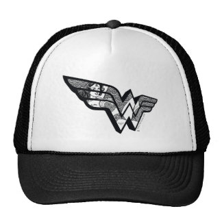 Wonder Woman Sitting In Angled Lace Logo Cap