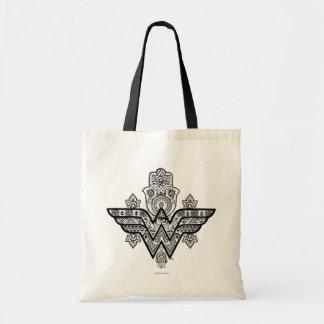 Wonder Woman Spiritual Paisley Hamsa Logo