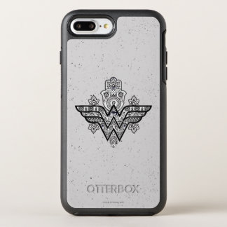 Wonder Woman Spiritual Paisley Hamsa Logo OtterBox Symmetry iPhone 8 Plus/7 Plus Case