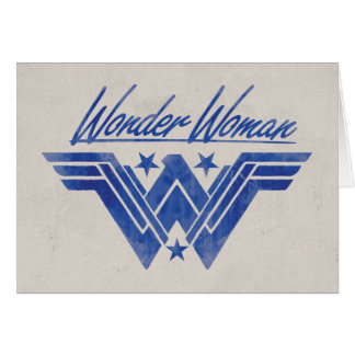 Wonder Woman Stacked Stars Symbol Card