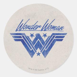 Wonder Woman Stacked Stars Symbol Classic Round Sticker