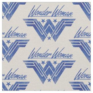 Wonder Woman Stacked Stars Symbol Fabric