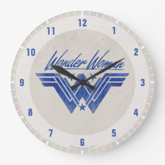 Wonder Woman Stacked Stars Symbol Large Clock