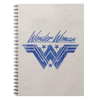 Wonder Woman Stacked Stars Symbol Spiral Notebook
