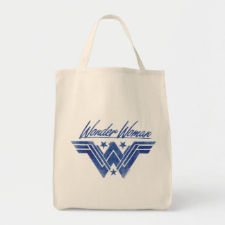 Wonder Woman Stacked Stars Symbol Tote Bag