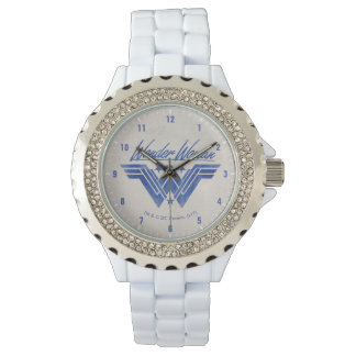 Wonder Woman Stacked Stars Symbol Watch