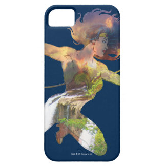 Wonder Woman Sunset Waterfall Silhouette iPhone 5 Cover
