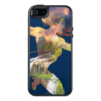Wonder Woman Sunset Waterfall Silhouette OtterBox iPhone 5/5s/SE Case