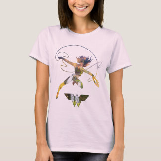 Wonder Woman Sunset Waterfall Silhouette T-Shirt