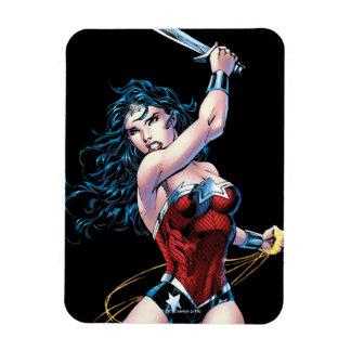 Wonder Woman Swinging Sword Rectangular Photo Magnet