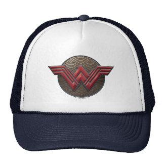 Wonder Woman Symbol Over Concentric Circles Cap