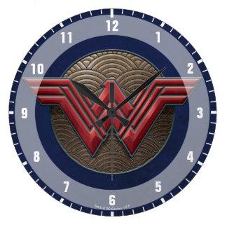 Wonder Woman Symbol Over Concentric Circles Clocks
