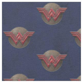 Wonder Woman Symbol Over Concentric Circles Fabric