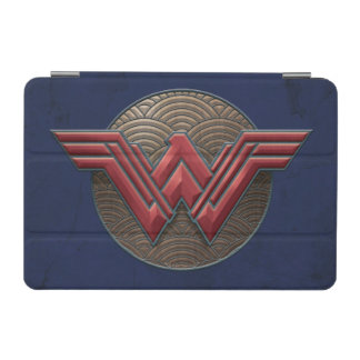 Wonder Woman Symbol Over Concentric Circles iPad Mini Cover