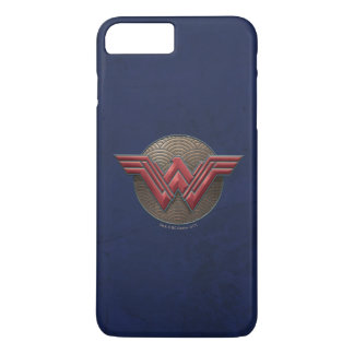 Wonder Woman Symbol Over Concentric Circles iPhone 8 Plus/7 Plus Case