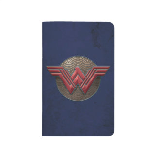 Wonder Woman Symbol Over Concentric Circles Journal