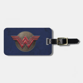 Wonder Woman Symbol Over Concentric Circles Luggage Tag