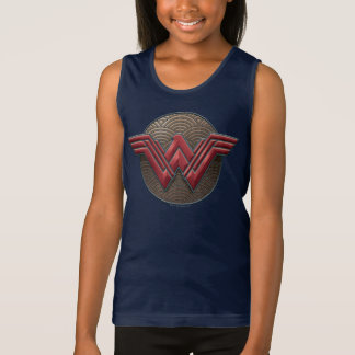 Wonder Woman Symbol Over Concentric Circles Singlet