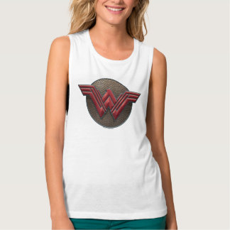 Wonder Woman Symbol Over Concentric Circles Singlet