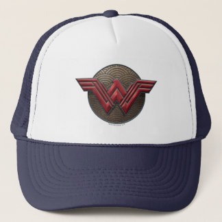 Wonder Woman Symbol Over Concentric Circles Trucker Hat