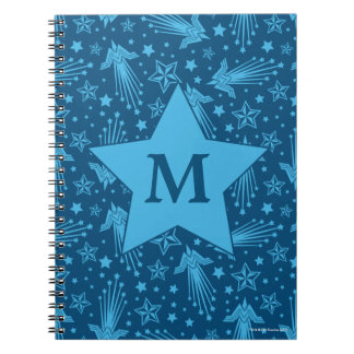 Wonder Woman Symbol Pattern | Monogram Notebook