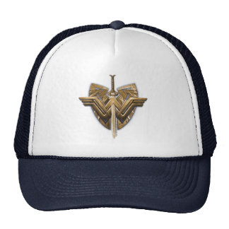 Wonder Woman Symbol With Sword of Justice Cap