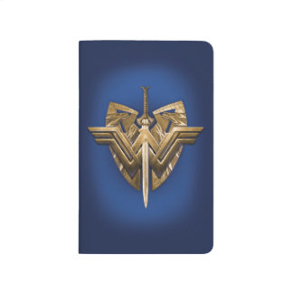 Wonder Woman Symbol With Sword of Justice Journal