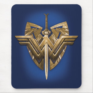 Wonder Woman Symbol With Sword of Justice Mouse Pad