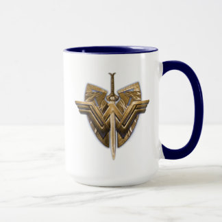 Wonder Woman Symbol With Sword of Justice Mug