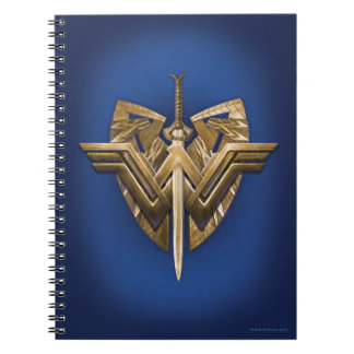 Wonder Woman Symbol With Sword of Justice Notebooks
