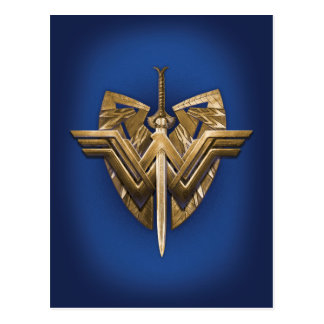 Wonder Woman Symbol With Sword of Justice Postcard