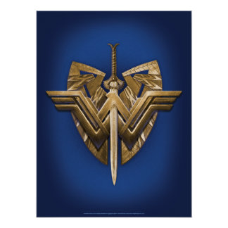 Wonder Woman Symbol With Sword of Justice Poster