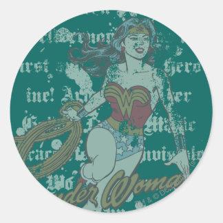 Wonder Woman Text Background Stickers