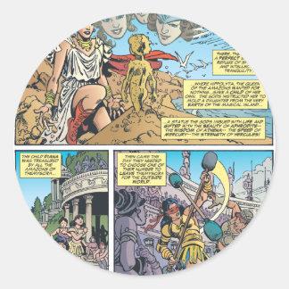 Wonder Woman Themyscira Round Stickers