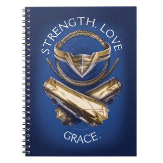 Wonder Woman Tiara, Lasso, and Bracelets Notebook