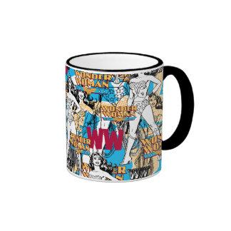 Wonder Woman Toss Pattern Ringer Mug