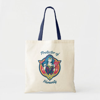 Wonder Woman Tri-Color Graphic Template Tote Bag