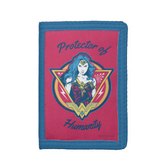 Wonder Woman Tri-Color Graphic Template Trifold Wallets