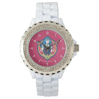 Wonder Woman Tri-Color Graphic Watch
