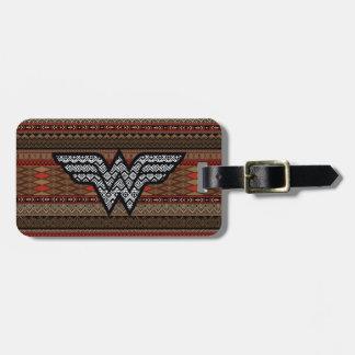 Wonder Woman Tribal Pattern Luggage Tag