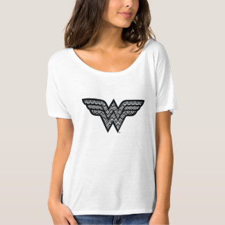 Wonder Woman Tribal Pattern T-Shirt