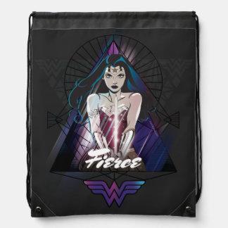 Wonder Woman Tribal Triangle Drawstring Bag