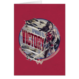 Wonder Woman Upward To Victory Card