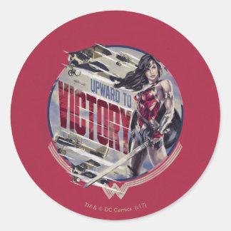 Wonder Woman Upward To Victory Classic Round Sticker