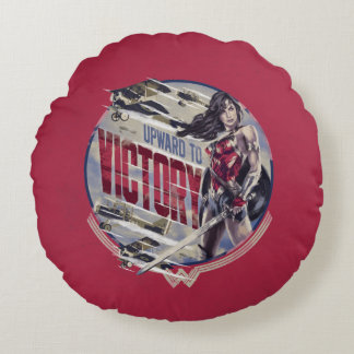 Wonder Woman Upward To Victory Round Cushion