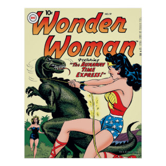 Wonder Woman Vintage Comic Cover Poster